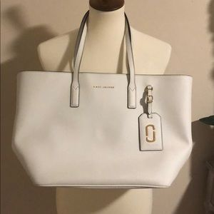 Marc Jacobs white tote bag